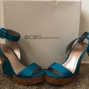3254cb747ad Coral Report Signature Pumps 5 1 2 BCBG wedges 5 1 2. New with box.